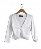 MS GRACY(エムズグレイシー)の古着「ショートボレロカーディガン」|ホワイト