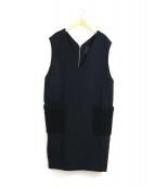 yori(ヨリ)の古着「プードルポケットウールワンピース」|ブラック