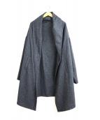 mizuiro-ind(ミズイロインド)の古着「ウールドレープロングカーディガン / ガウンコート」|グレー