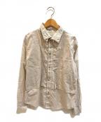 plantation(プランテーション)の古着「織り柄切替ピンタックシャツ」 ホワイト