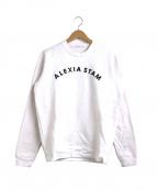 ALEXIA STAM(アリシアスタン)の古着「フロントロゴスウェット / トレーナー」|ホワイト