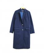 Loungedress(ラウンジドレス)の古着「アンカーボタンチェスターコート」 ネイビー