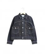 SERGE de bleu(サージ デ ブルー)の古着「1-2ndタイプデニムジャケット」|グレー