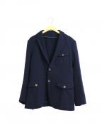 azabu tailor(アザブテーラー)の古着「2ボタンテーラードジャケット」 ネイビー