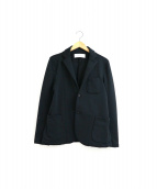 CURLY(カーリー)の古着「ポリジャージーストレッチテーラードジャケット」|ブラック