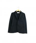 CURLY(カーリー)の古着「ポリジャージーストレッチテーラードジャケット」 ブラック