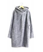 MAX MARA STUDIO(マックスマーラ ストゥディオ)の古着「アルパカシャギーフーデッドコート」|グレー