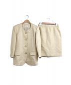 YUKI TORII(ユキトリイ)の古着「ジャガードセットアップジャケット&スカート」|ベージュ