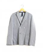 HARRIS WHARF LONDON(ハリスワーフロンドン)の古着「エルボーパッチダブルブレストジャケット」|グレー