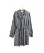VINTAGE(ヴィンテージ)の古着「[古着]ブラックシャンブレーアトリエコート」|グレー