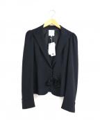LANVIN en Bleu()の古着「リボンブローチ付テーラードジャケット」 ネイビー