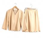 ()の古着「[OLD]スカラップセットアップジャケット&スカート」|ピンク