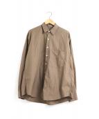 AURALEE(オーラリー)の古着「ウォッシュドフィンクスツイルビッグシャツ」|ブラウン