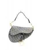 Christian Dior(クリスチャンディオール)の古着「[OLD]トロッターサドルバッグ」 ネイビー