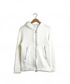 Seagreen(シーグリーン)の古着「ワッフルジップパーカー」|ホワイト