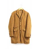 nestrobe confect(ネストローブ コンフェクト)の古着「起毛リネンチェスターコート」|ブラウン