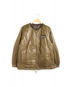 WILD THINGS(ワイルドシングス)の古着「リバーシブルキルティングジャケット」|ブラウン