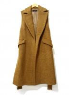 SACRA(サクラ)の古着「ウールノースリーブコート」|ブラウン