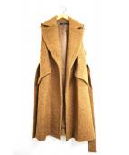SACRA(サクラ)の古着「ウールノースリーブコート / ロングベスト」 ブラウン