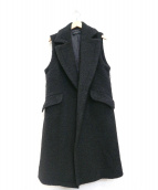 SACRA(サクラ)の古着「ウールノースリーブコート / ロングベスト」 ブラック