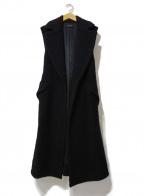 SACRA(サクラ)の古着「ウールノースリーブコート」|ブラック