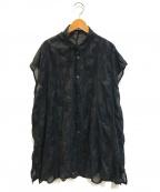 plantation(プランテーション)の古着「シースルードットブラウスワンピース」 ブラック