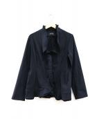 4298 SHIZUKA KOMURO(ヨンニキュウハチ シズカコムロ)の古着「ストレッチジャージーデザインジャケット」 ネイビー