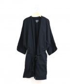 ordinary fits(オーディナリーフィッツ)の古着「ノーカラーガウンコート」|ブラック