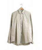 AURALEE(オーラリー)の古着「ウォッシュドフィンクスツイルビッグシャツ」|ベージュ