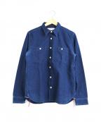 SAMURAI JEANS(サムライジーンズ)の古着「デニムワークシャツ」 ネイビー