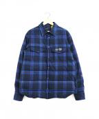 MONCLER×FRAGMENT(モンクレール×フラグメント)の古着「コラボダウンシャツジャケット」|ブルー×ネイビー
