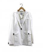 icB(アイシービー)の古着「オーバーサイズテーラードジャケット」|ホワイト