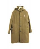 ()の古着「ウールモッサシングルフーデッドコート」 オリーブ