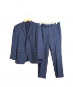 DURBAN(ダーバン)の古着「セットアップ・2ボタンストライプスーツ」|ネイビー