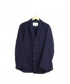 PAPAS(パパス)の古着「縮絨ウールテーラードジャケット」 ネイビー