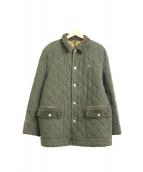 PAPAS(パパス)の古着「キルティングジャケット」|カーキ