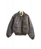AVIREX(アヴィレックス)の古着「[古着]TYPE A-2 レザーフライトジャケット」|ブラウン