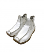 Y's YOHJI YAMAMOTO(ワイズ ヨウジヤマモト)の古着「[OLD]クレープソールサイドゴアブーツ」 ホワイト