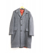ETRO(エトロ)の古着「シルクペイズリーライナーカシミヤ混チェスターコート」|グレー