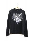 KENZO(ケンゾー)の古着「タイガーロゴプリントスウェット」|ブラック