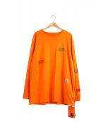 HERON PRESTON×CARHARTT WIP(ヘロンプレストン×カーハートダブリューアイピー)の古着「コラボロングスリーブTシャツ」|オレンジ