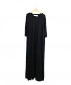 JANE SMITH(ジェーンスミス)の古着「カットソーマキシワンピース」|ブラック