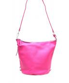 YAHKI(ヤーキ)の古着「バケツ型2WAYショルダーバッグ」|ピンク