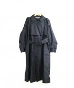 Unaca(アナカ)の古着「別注ボリュームシルエットトレンチコート」|ブラック