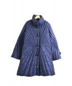 伊太利屋(イタリヤ)の古着「裏レオパードダウンコート」|ネイビー
