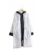 TRUNK HIROKO KOSHINO(トランク ヒロコ コシノ)の古着「総柄ナイロンフーデッドコート」|グレー