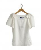 M'S GRACY(エムズグレイシー)の古着「レーシースリーブニット」 ホワイト