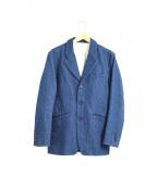 NO ID.(ノーアイディー)の古着「デニムノッチドラペル 3Bジャケット」|インディゴ