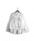 慈雨(ジウ)の古着「レイヤードデザイン刺繍ブラウス」|ホワイト