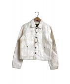 RALPH LAUREN(ラルフローレン)の古着「ユーズド&ペイント加工デニムジャケット」|オフホワイト